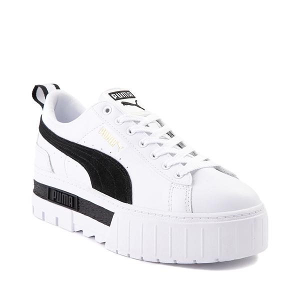 alternate view Womens Puma Mayze Platform Athletic Shoe - White / BlackALT5