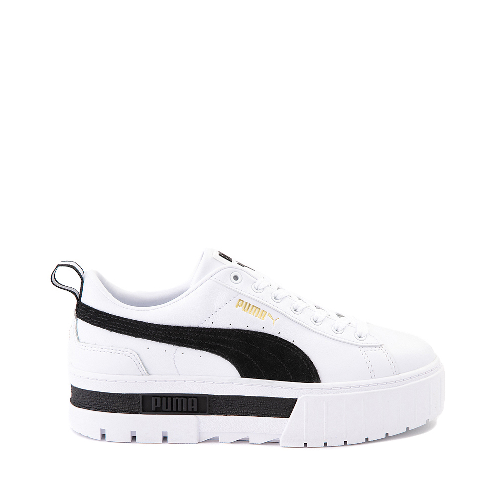 Womens Puma Mayze Platform Athletic Shoe - White / Black