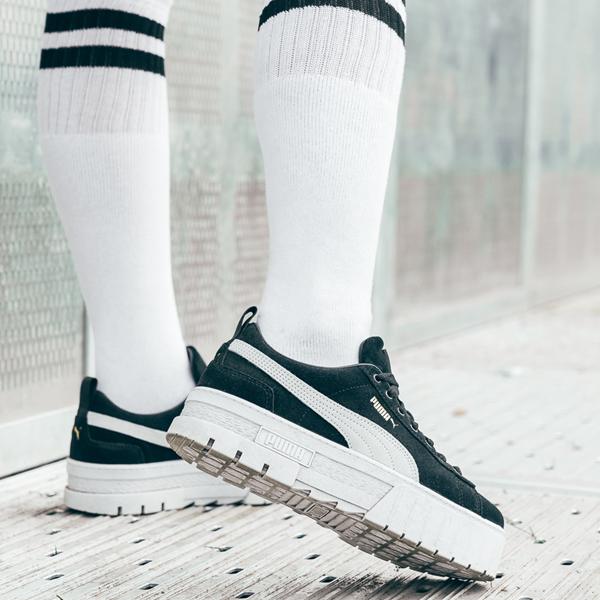 alternate view Womens Puma Mayze Platform Athletic Shoe - BlackALT1B