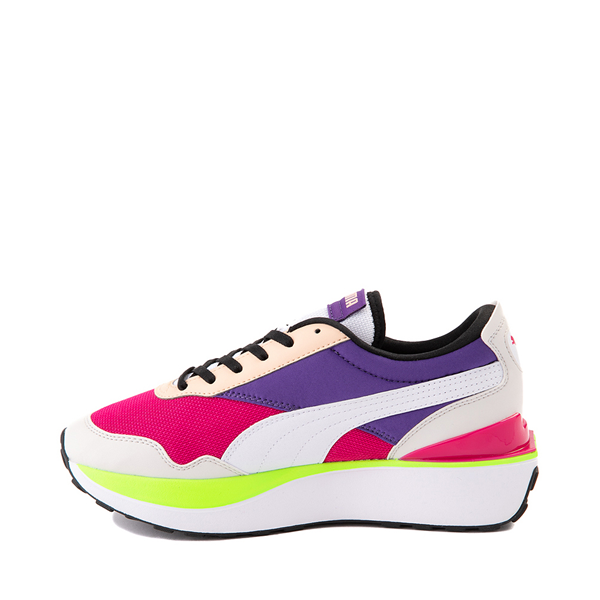 alternate view Womens Puma Cruise Rider Platform Athletic Shoe - Gray / Pink / Purple / LimeALT1
