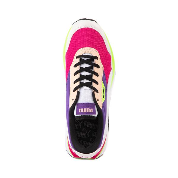 alternate view Womens Puma Cruise Rider Platform Athletic Shoe - Gray / Pink / Purple / LimeALT2