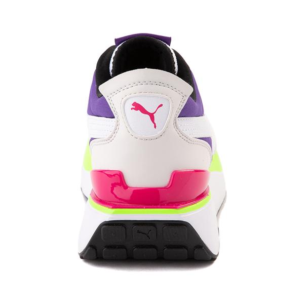 alternate view Womens Puma Cruise Rider Platform Athletic Shoe - Gray / Pink / Purple / LimeALT4