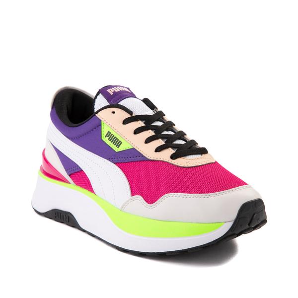 alternate view Womens Puma Cruise Rider Platform Athletic Shoe - Gray / Pink / Purple / LimeALT5