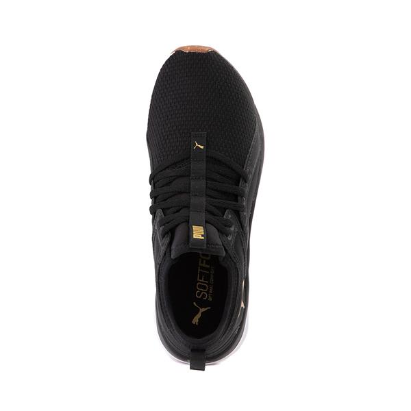 alternate view Puma SoftRide Sophia Luxe Athletic Shoe - Black / GoldALT2