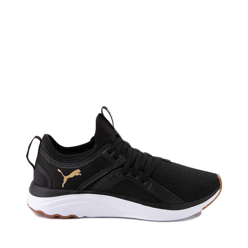 Puma SoftRide Sophia Luxe Athletic Shoe - Black / Gold