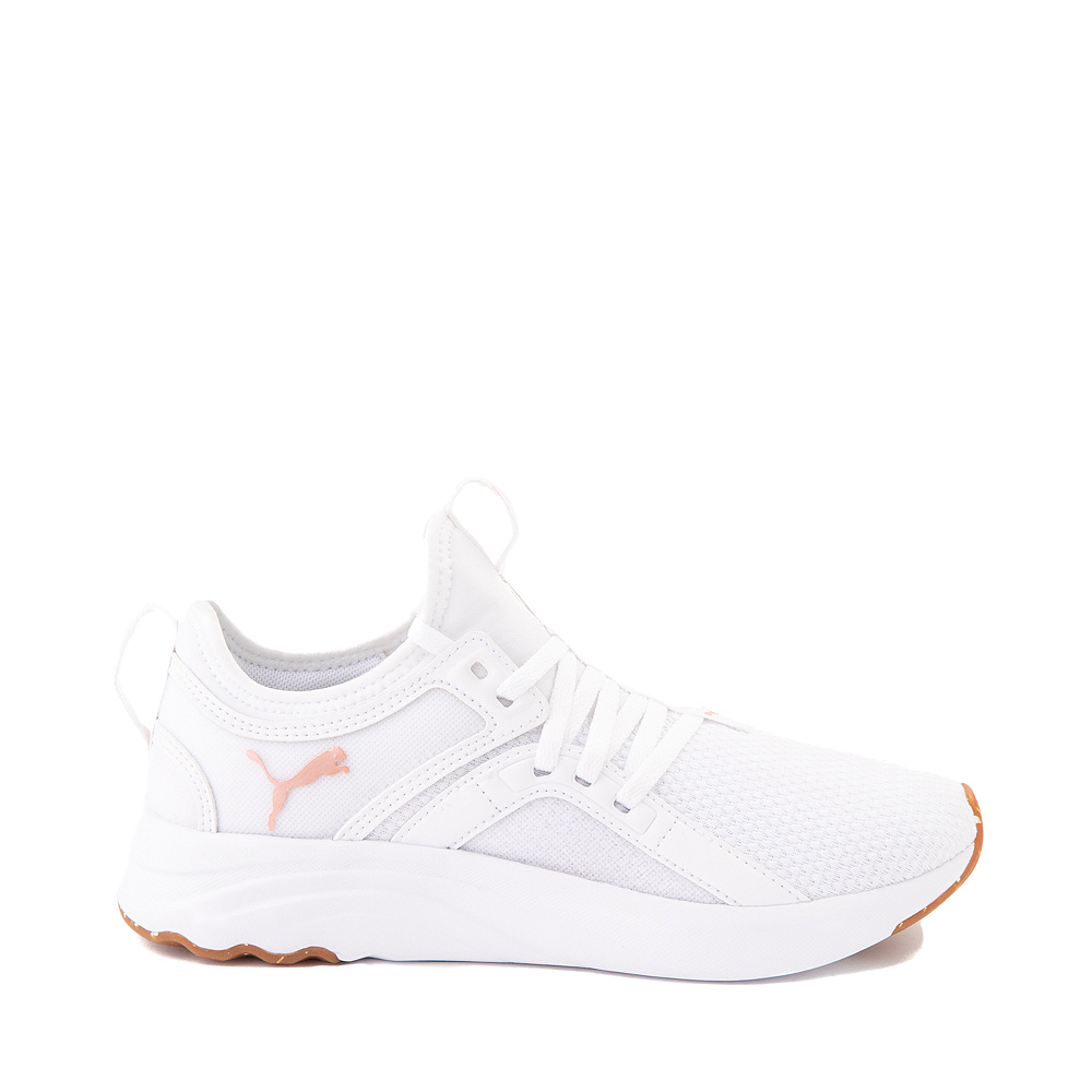 Puma SoftRide Sophia Luxe Athletic Shoe - White / Rose Gold
