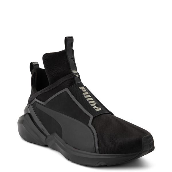 alternate view Womens Puma Fierce 2 Athletic Shoe - Black MonochromeALT5