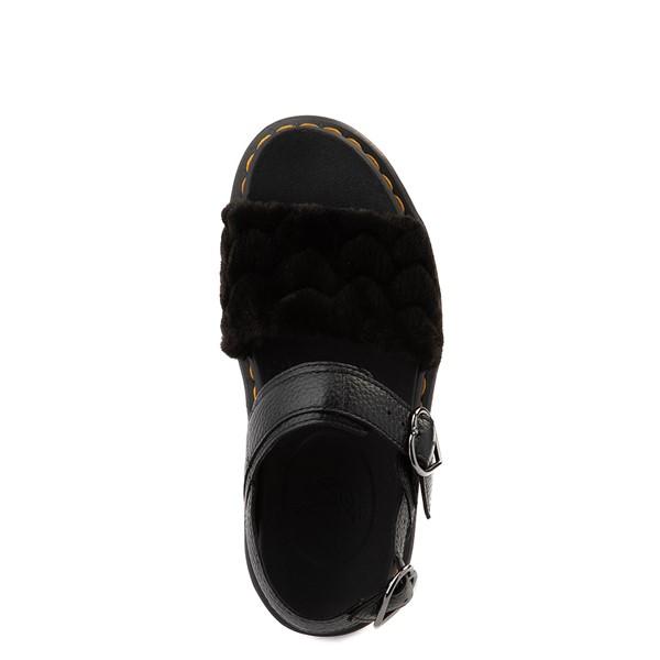 alternate view Womens Dr. Martens Voss Fluffy Quad Sandal - BlackALT2
