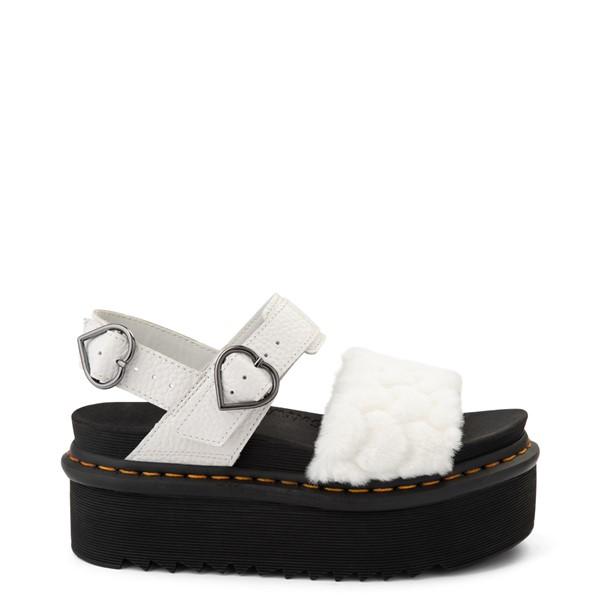 Womens Dr. Martens Voss Fluffy Quad Sandal - White