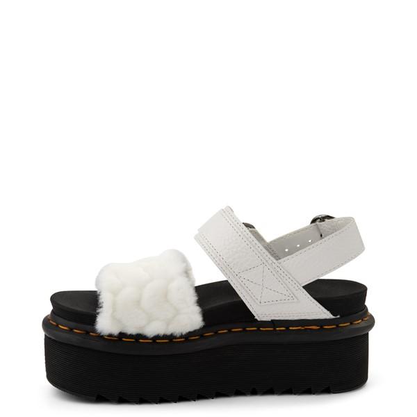 alternate view Womens Dr. Martens Voss Fluffy Quad Sandal - WhiteALT1