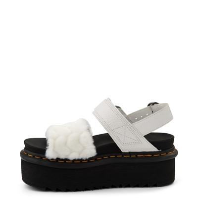 Alternate view of Womens Dr. Martens Voss Fluffy Quad Sandal - White