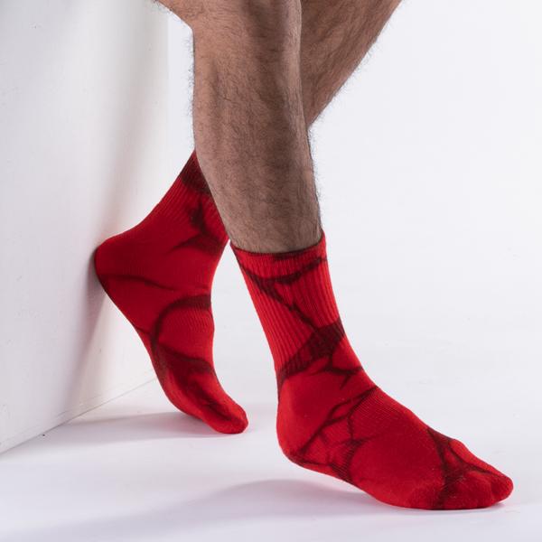 alternate view Mens Half Crew Socks 5 Pack - Tie DyeALT1