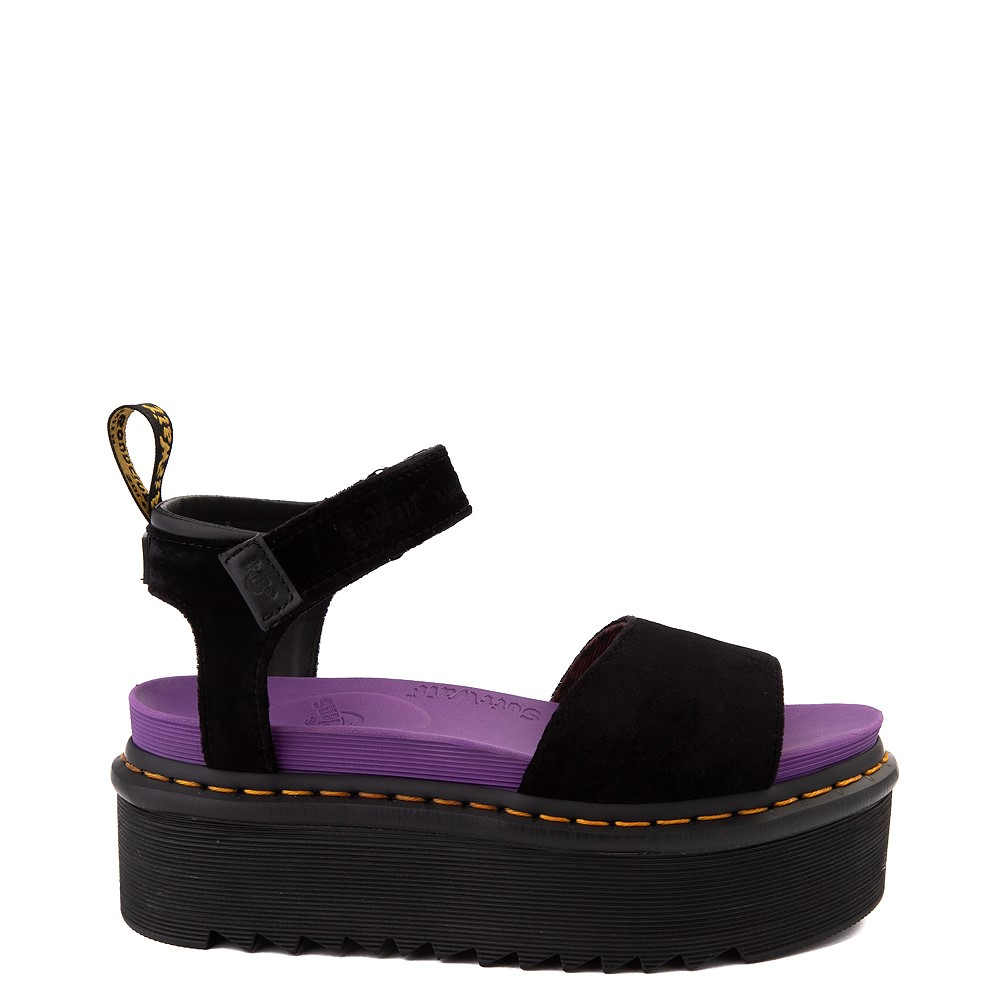 Womens Dr. Martens x X-Girl Voss Quad Sandal - Black