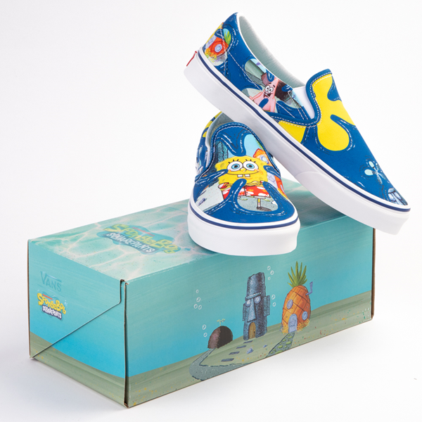 alternate view Vans x SpongeBob SquarePants™ Slip On Alohabob Skate Shoe - BlueALT1C
