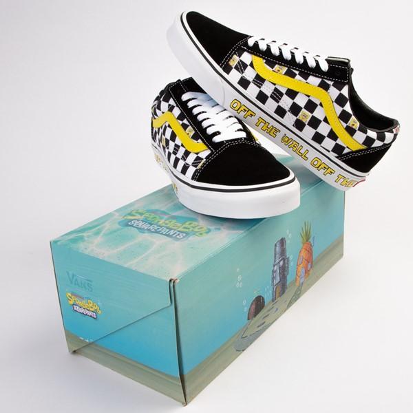 alternate view Vans x SpongeBob SquarePants™ Old Skool Checkerboard Skate Shoe - BlackALT1B