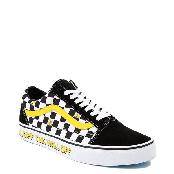 alternate view Vans x SpongeBob SquarePants™ Old Skool Checkerboard Skate Shoe - BlackALT5