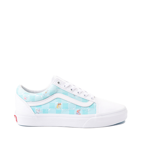 Vans x SpongeBob SquarePants™ Old Skool Bikini Bubble Checkerboard Skate Shoe - White