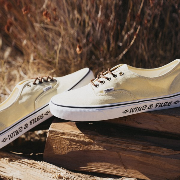 alternate view Vans X Parks Project Authentic Wild And Free Skate Shoe - Mellow YellowALT1B