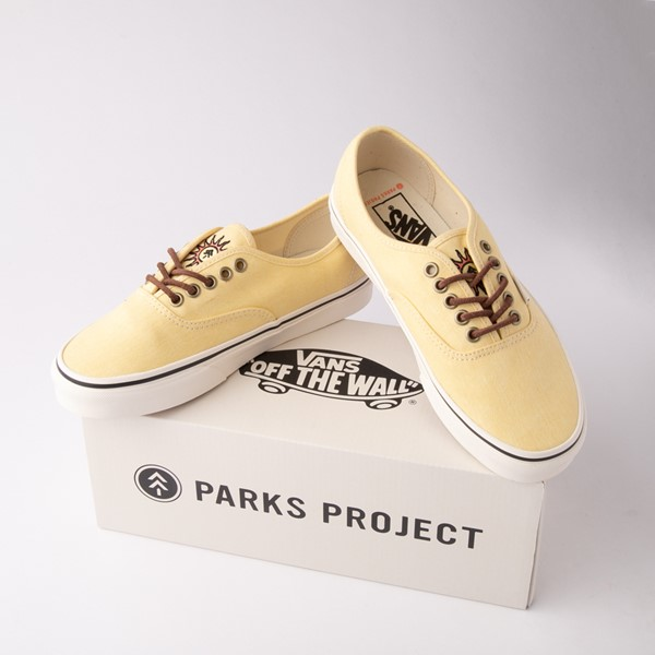 alternate view Vans X Parks Project Authentic Wild And Free Skate Shoe - Mellow YellowALT1C