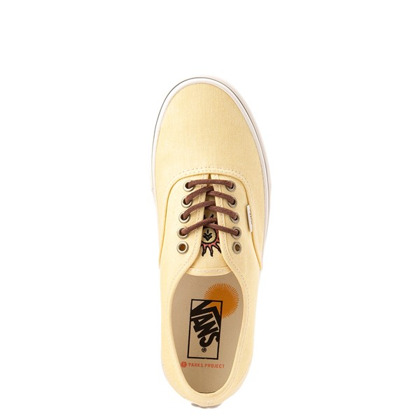 alternate view Vans X Parks Project Authentic Wild And Free Skate Shoe - Mellow YellowALT2