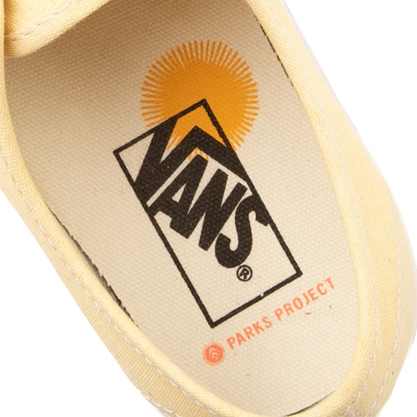 alternate view Vans X Parks Project Authentic Wild And Free Skate Shoe - Mellow YellowALT4C