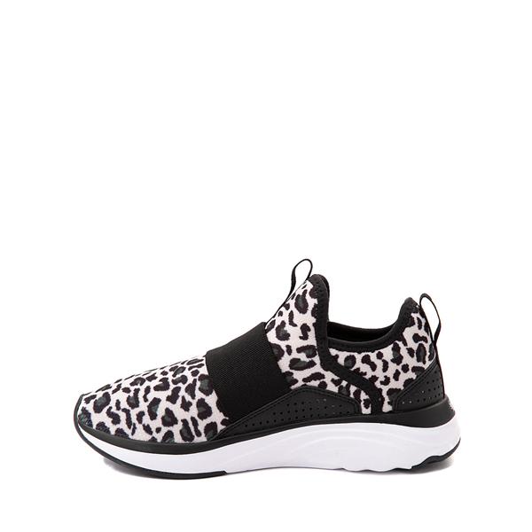 alternate view Puma SoftRide Sophia Slip On Athletic Shoe - Little Kid / Big Kid - Black / LeopardALT1