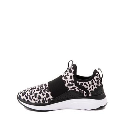 Alternate view of Puma SoftRide Sophia Slip On Athletic Shoe - Little Kid / Big Kid - Black / Leopard