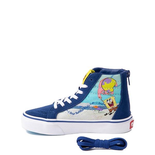 alternate view Vans x SpongeBob SquarePants™ Sk8 Hi Zip Best Buddies 4-Life Skate Shoe - Little Kid - BlueALT1