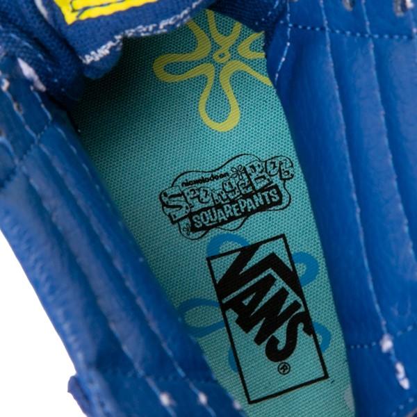 alternate view Vans x SpongeBob SquarePants™ Sk8 Hi Zip Best Buddies 4-Life Skate Shoe - Little Kid - BlueALT2B