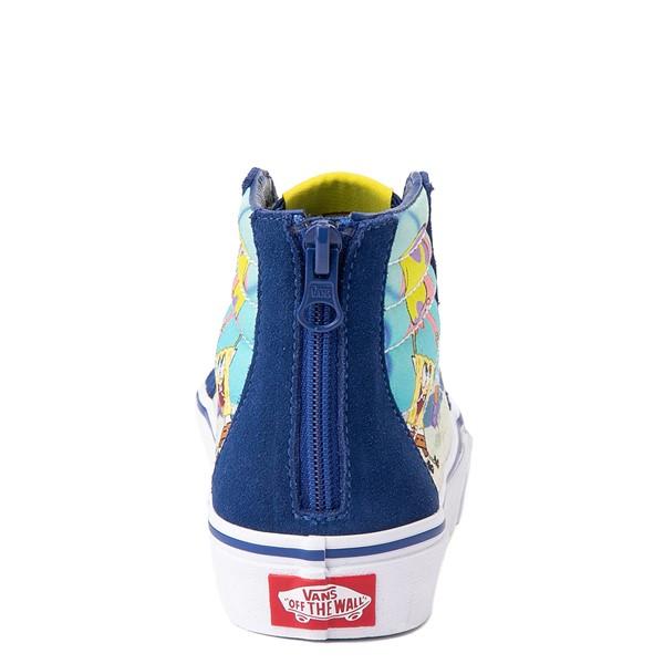 alternate view Vans x SpongeBob SquarePants™ Sk8 Hi Zip Best Buddies 4-Life Skate Shoe - Little Kid - BlueALT4