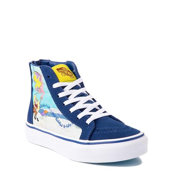alternate view Vans x SpongeBob SquarePants™ Sk8 Hi Zip Best Buddies 4-Life Skate Shoe - Little Kid - BlueALT5