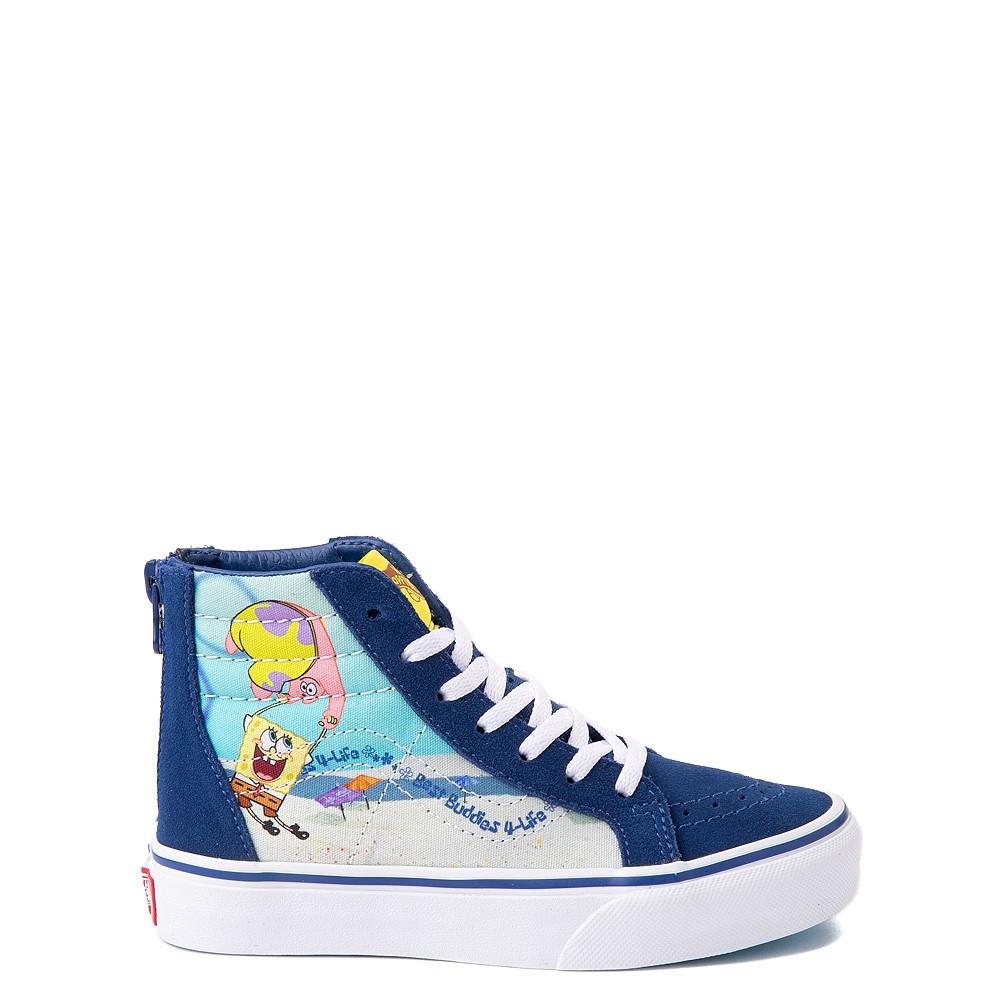 Vans x SpongeBob SquarePants™ Sk8 Hi Zip Best Buddies 4-Life Skate Shoe - Little Kid - Blue