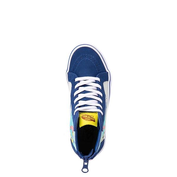 alternate view Vans x SpongeBob SquarePants™ Sk8 Hi Zip Best Buddies 4-Life Skate Shoe - Big Kid - BlueALT2