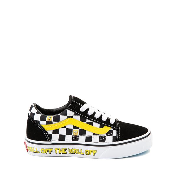 Vans x SpongeBob SquarePants™ Old Skool Checkerboard Skate Shoe - Little Kid - Black