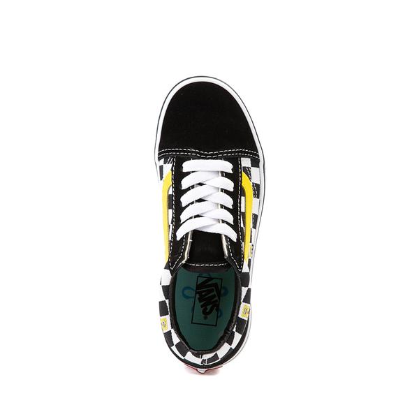 alternate view Vans x SpongeBob SquarePants™ Old Skool Checkerboard Skate Shoe - Little Kid - BlackALT2