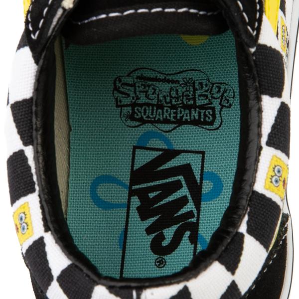 alternate view Vans x SpongeBob SquarePants™ Old Skool Checkerboard Skate Shoe - Little Kid - BlackALT2B