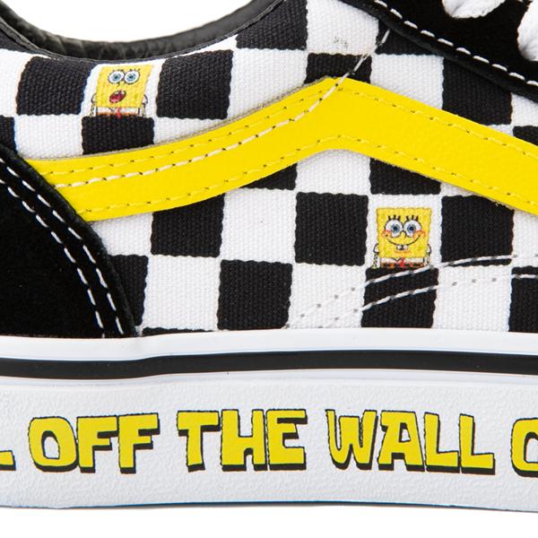 alternate view Vans x SpongeBob SquarePants™ Old Skool Checkerboard Skate Shoe - Little Kid - BlackALT2C