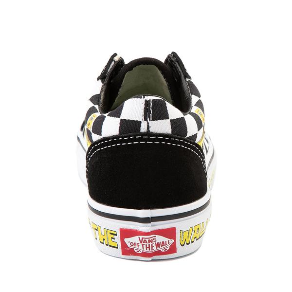 alternate view Vans x SpongeBob SquarePants™ Old Skool Checkerboard Skate Shoe - Little Kid - BlackALT4