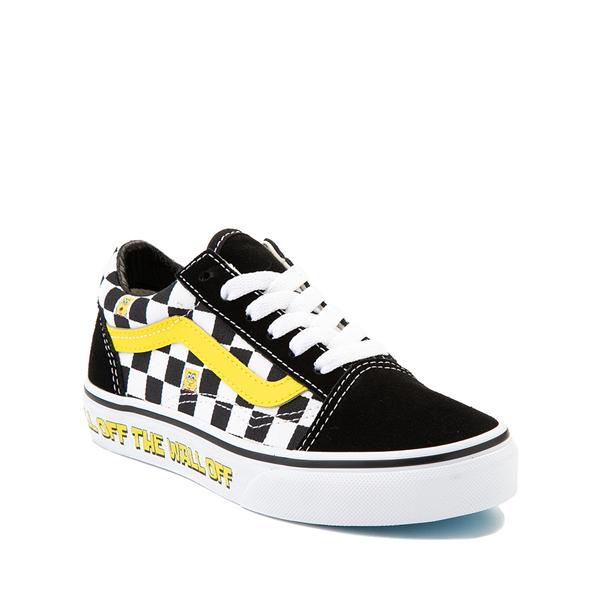 alternate view Vans x SpongeBob SquarePants™ Old Skool Checkerboard Skate Shoe - Little Kid - BlackALT5