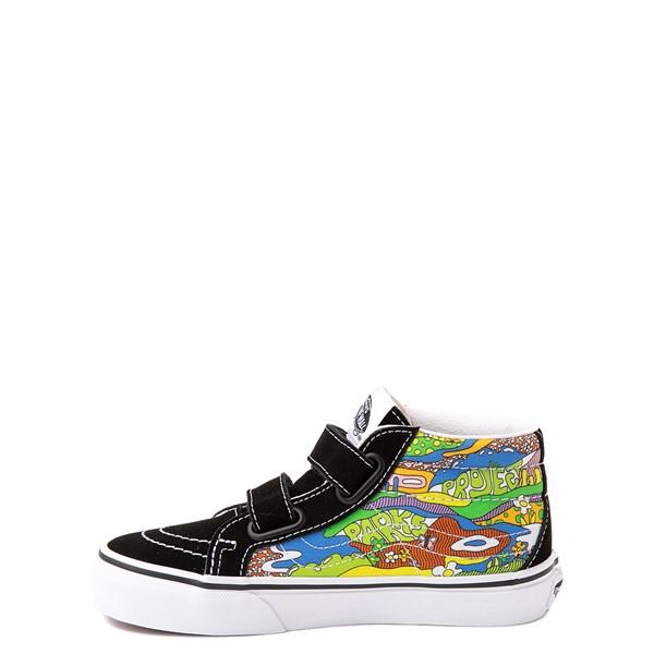 alternate view Vans x Parks Project Sk8 Mid Reissue V Wild And Free Skate Shoe - Little Kid - Black / MulticolorALT1