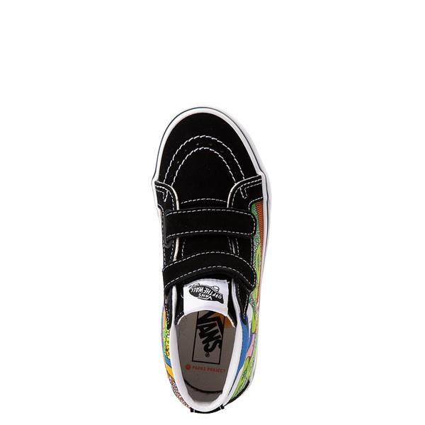 alternate view Vans x Parks Project Sk8 Mid Reissue V Wild And Free Skate Shoe - Little Kid - Black / MulticolorALT2