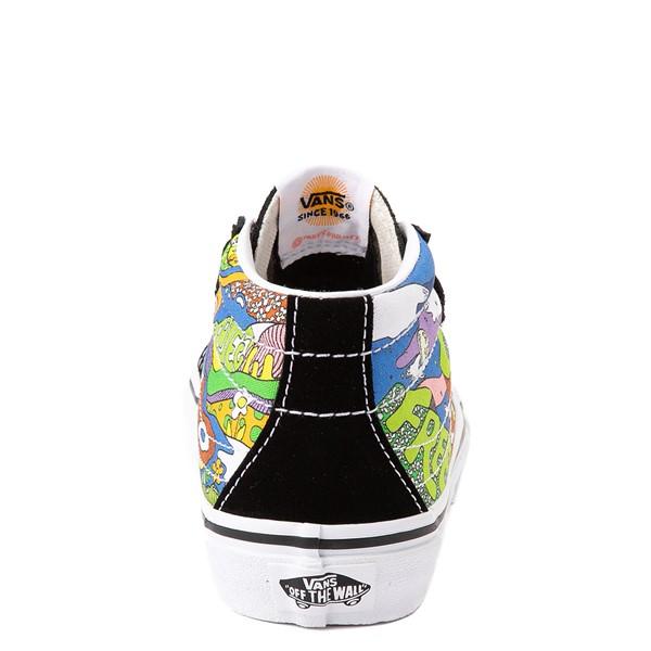 alternate view Vans x Parks Project Sk8 Mid Reissue V Wild And Free Skate Shoe - Little Kid - Black / MulticolorALT4