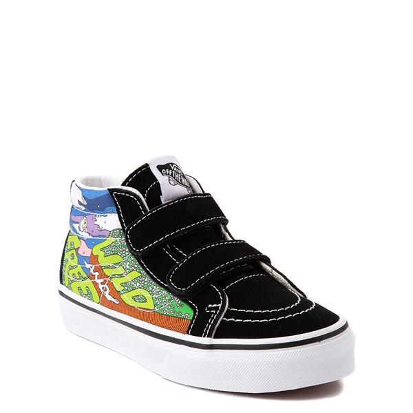 alternate view Vans x Parks Project Sk8 Mid Reissue V Wild And Free Skate Shoe - Little Kid - Black / MulticolorALT5