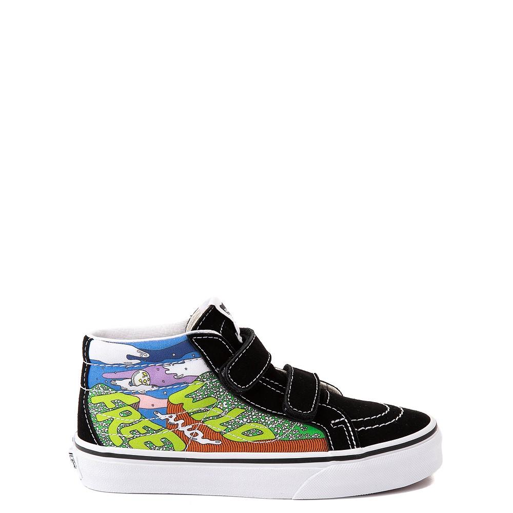 Vans x Parks Project Sk8 Mid Reissue V Wild And Free Skate Shoe - Little Kid - Black / Multicolor