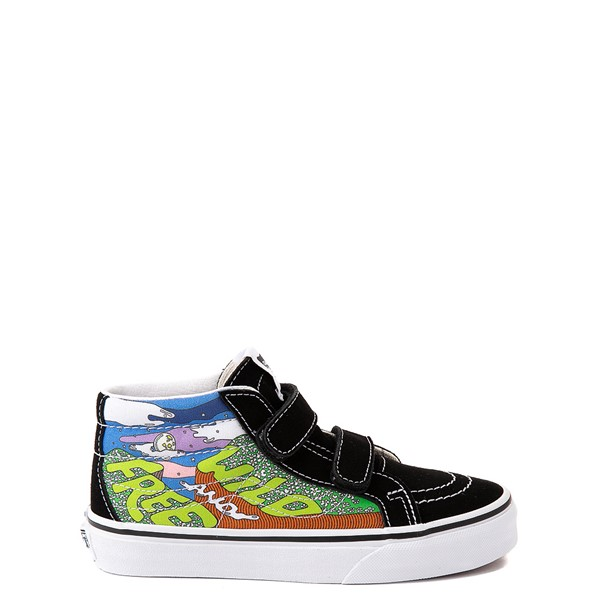 Main view of Vans X Parks Project Sk8 Mid Reissue V Wild And Free Skate Shoe - Big Kid - Black / Multicolor