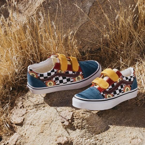 alternate view Vans x Parks Project Old Skool V Skate Shoe - Big Kid - MulticolorALT1B