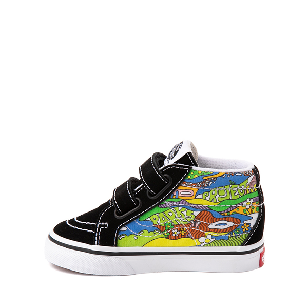 alternate view Vans x Parks Project Sk8 Mid Reissue V Wild And Free Skate Shoe - Baby / Toddler - Black / MulticolorALT1