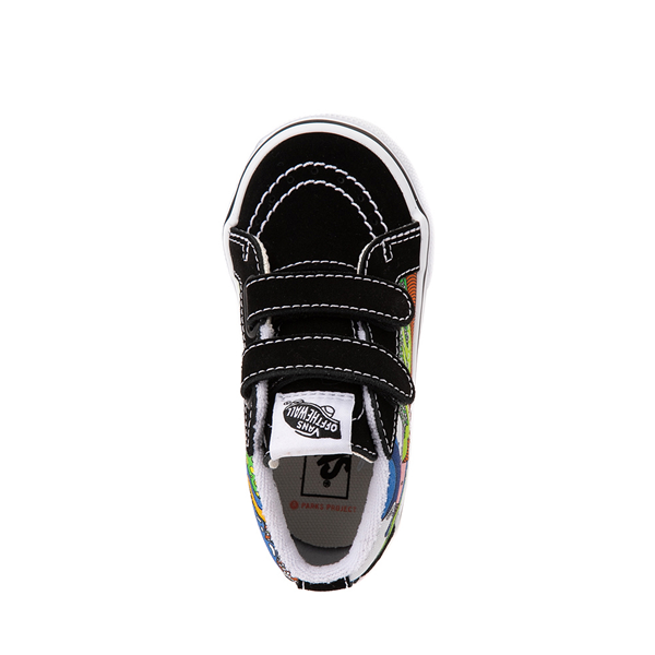 alternate view Vans x Parks Project Sk8 Mid Reissue V Wild And Free Skate Shoe - Baby / Toddler - Black / MulticolorALT2