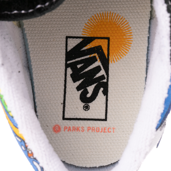 alternate view Vans x Parks Project Sk8 Mid Reissue V Wild And Free Skate Shoe - Baby / Toddler - Black / MulticolorALT2C