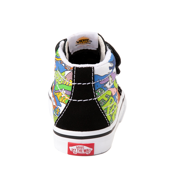 alternate view Vans x Parks Project Sk8 Mid Reissue V Wild And Free Skate Shoe - Baby / Toddler - Black / MulticolorALT4